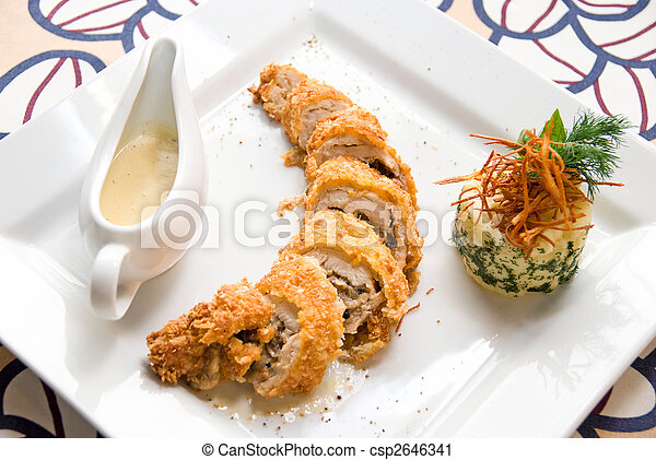 tasty gourmet foods of chicken meat - csp2646341