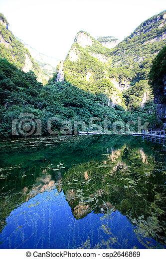 The scenery of Yun-Tai Mountain, a World Geologic Park - csp2646869