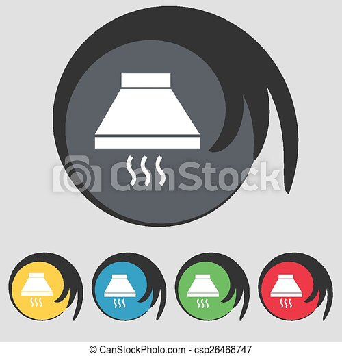 Kitchen Hood Drawing Kitchen Hood Icon Sign