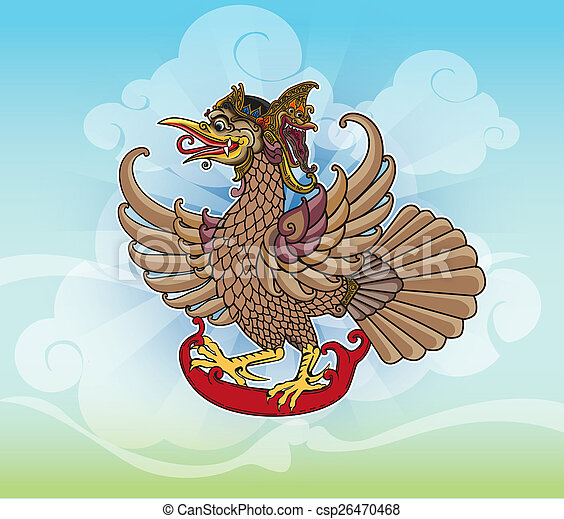 Puppet character 'Jatayu' or Eagle - csp26470468