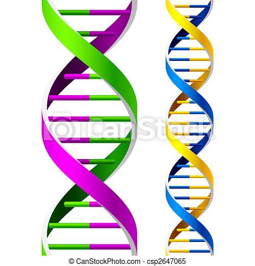 DNA Strands. Seamless. - csp2647065