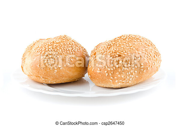 Two sesame buns - csp2647450