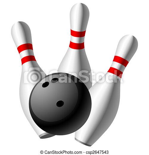 Bowling pins Vector Clipart Royalty Free. 3,736 Bowling pins clip ...