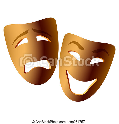 Comedy and tragedy masks - csp2647571