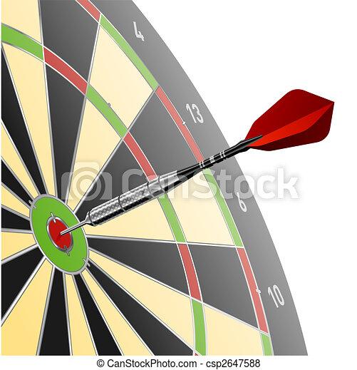 Dart in red target - csp2647588