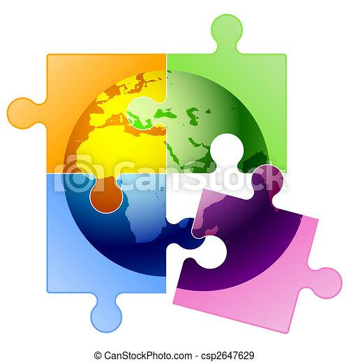 Puzzle of globe - csp2647629