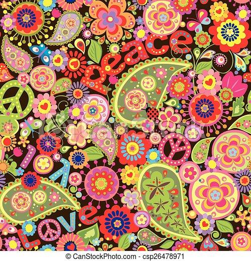 illustrations vectoris es de papier peint hippie hippie. Black Bedroom Furniture Sets. Home Design Ideas