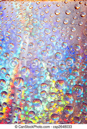 brilliant water droplets background . - csp2648033