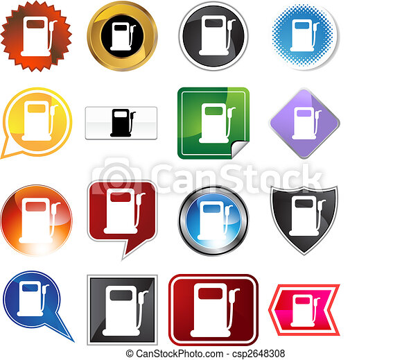 Gas pump label set - csp2648308