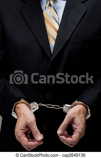Business man in handcuffs - csp2649136