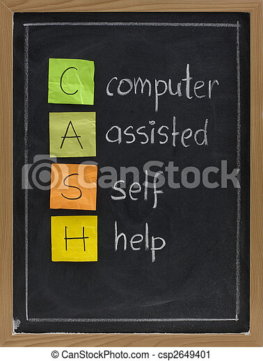 computer assisted self help (CASH) - csp2649401