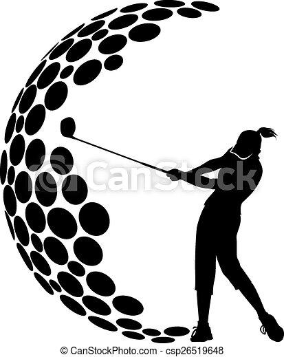 Women Golf G Design - csp26519648