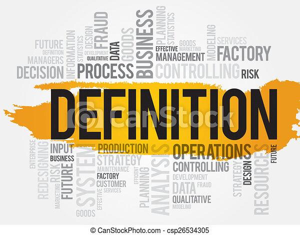 Clip Art Define Clip Art stock illustration of definition word cloud business concept csp26534305