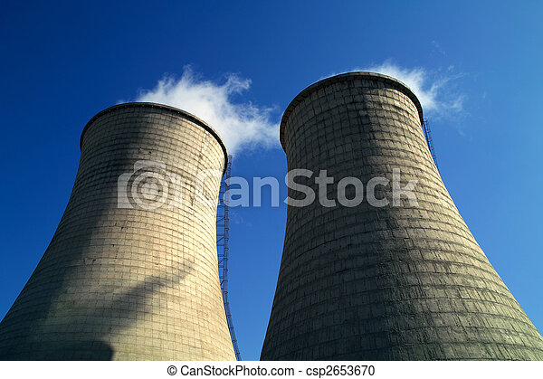 Chimneys of power station  - csp2653670
