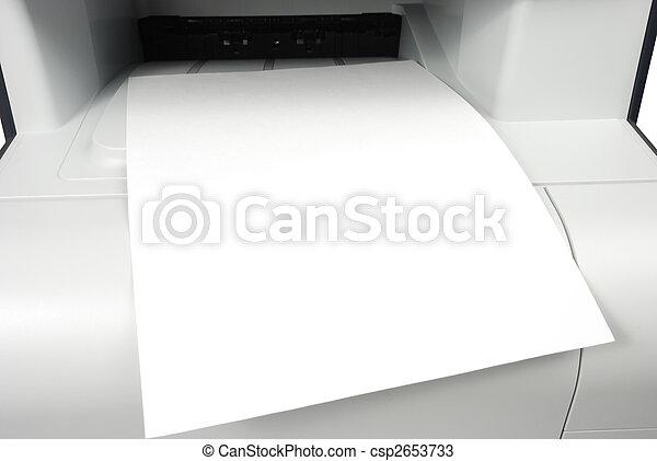 Blank Printout - csp2653733