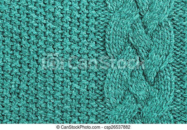 abstract turquoise knitted wool background