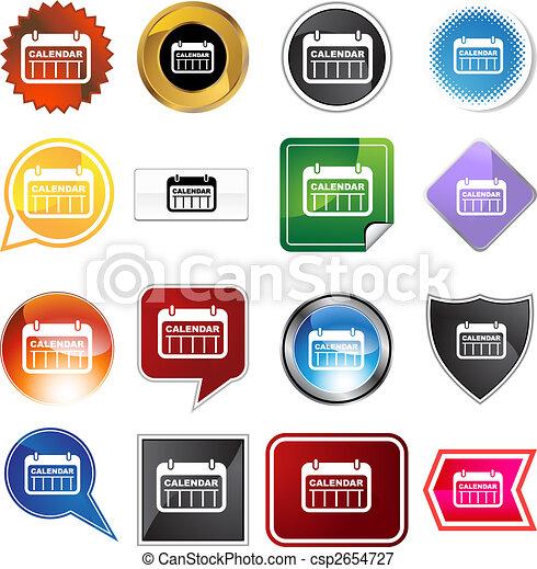 date calendar variety icon set - csp2654727