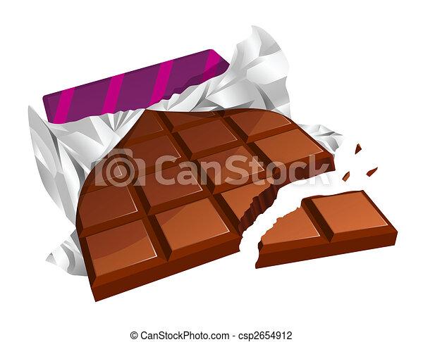 Chopped chocolate bar - csp2654912