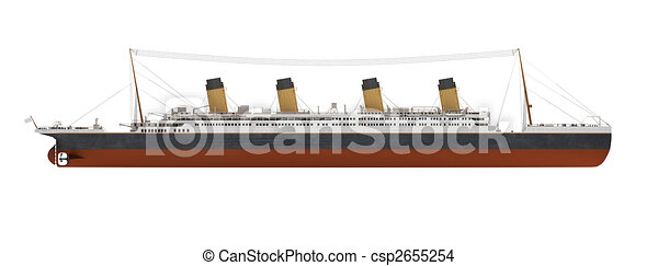 Titanic Outline Drawing Liner Side View Drawing