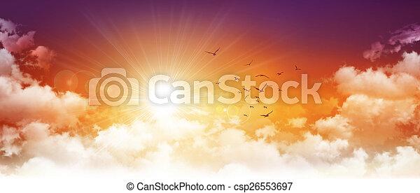 Panoramic sunset - csp26553697