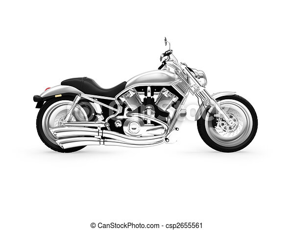 isolated motorcycle side view - csp2655561