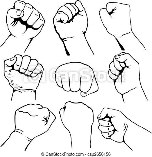 Set of fists vector - csp2656156