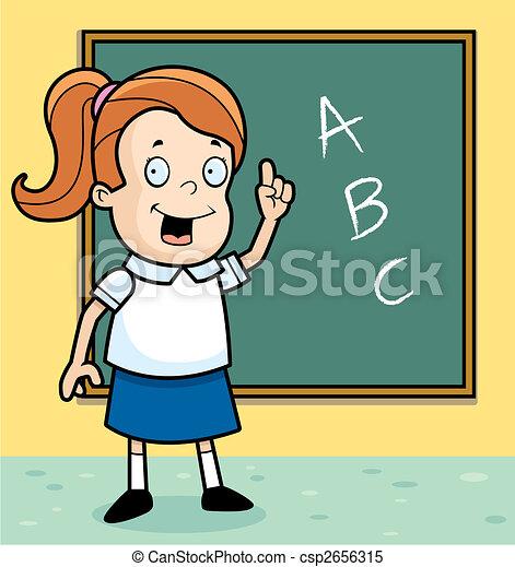 Schoolgirl Class - csp2656315