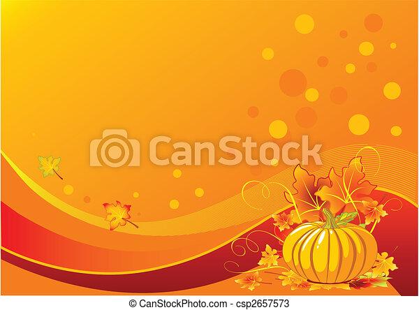Holiday pumpkin background - csp2657573