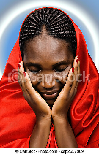 Stock Photographs of African Christian woman - Religious African ...