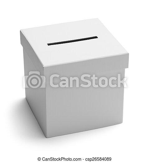箱子, 白色, 選票 - csp26584089