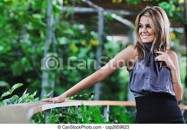 woman fashion outdoor - csp2659623