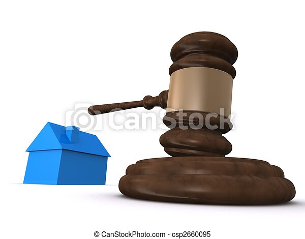 house and gavel - csp2660095