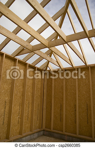 part of a wood house construction - csp2660385