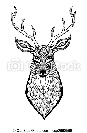 Deer Outline Clipart Black And White together with Printable reindeer clipart moreover Deer Outline furthermore Animal Horn Clipart To Draw also Vektor Rehbock Hirsch 4033966. on stag head clip art