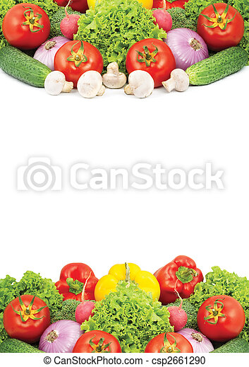 Assorted fresh vegetables isolated on white background - csp2661290