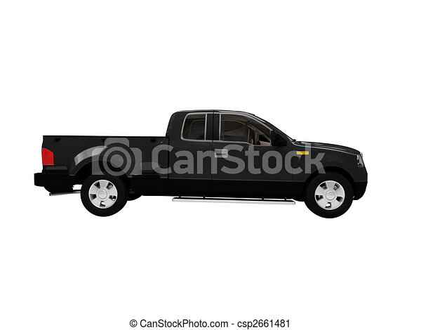 Jeep Side View Drawing Isolated Black Car Side View