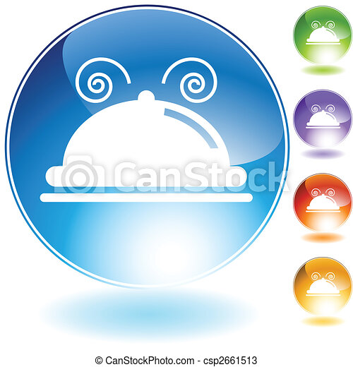 meal tray crystal icon - csp2661513