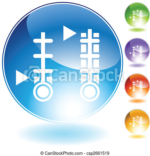 meter crystal icon - csp2661519