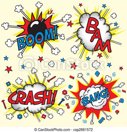 Crash, Boom, Bam and Bang! - csp2661572