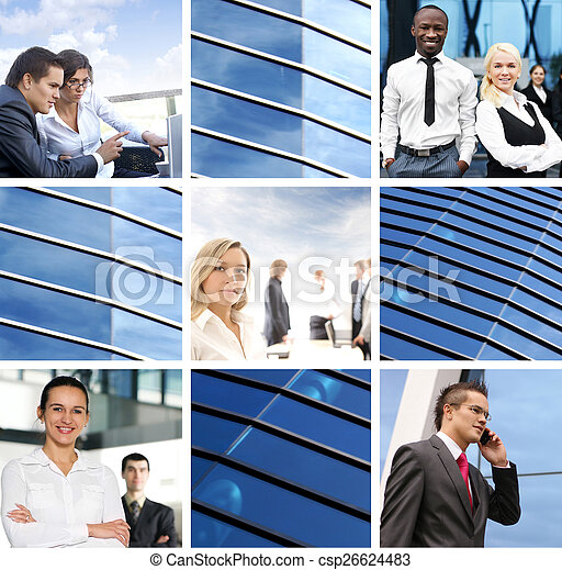 Business collage with people - csp26624483