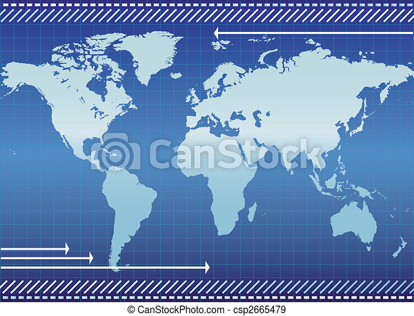 Background with continents - csp2665479