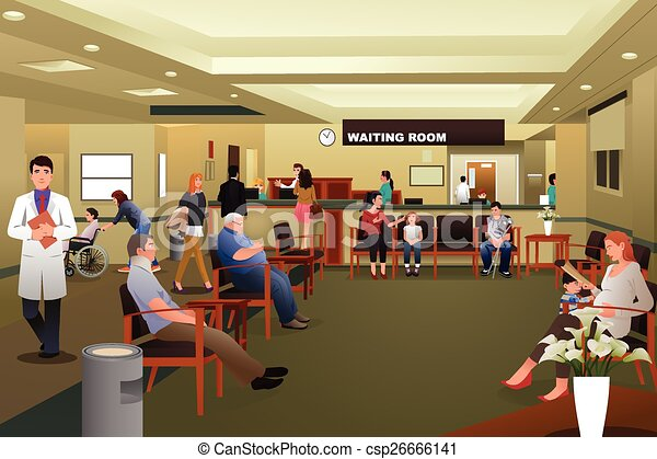 eps vector of patients waiting in a hospital waiting room