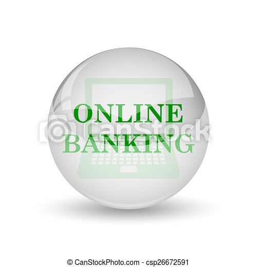 Online banking icon - csp26672591