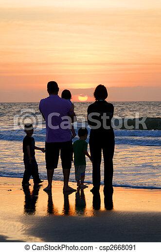 Family at the Sea - csp2668091