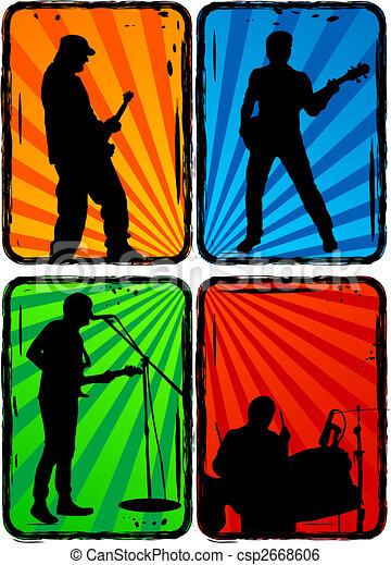 rock band, part 3 - csp2668606