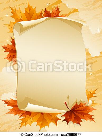 otoño, hojas - csp2668677