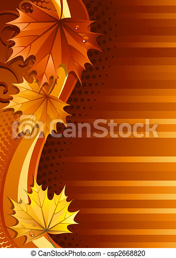 Autumn background - csp2668820