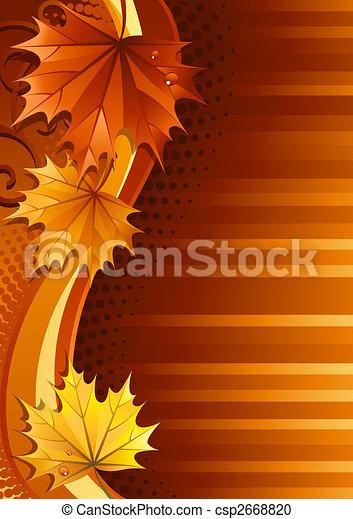 Autumn background - csp2668820
