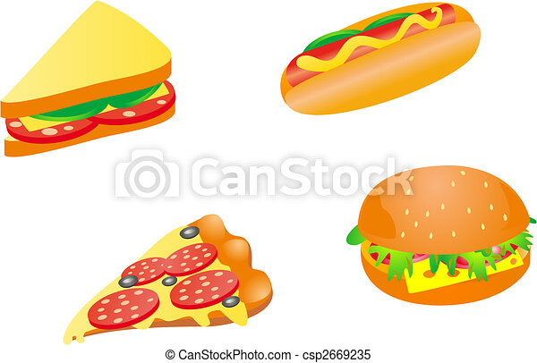 Fast food icons - csp2669235