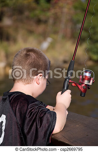 Fishing Boy - csp2669795